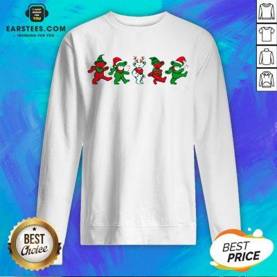 Funny Grateful Dead Bear Christmas Sweatshirt - Design By Earstees.com