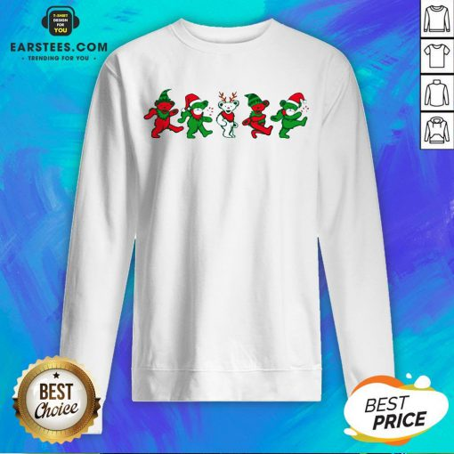 Funny Grateful Dead Bear Christmas Sweatshirt - Design By Earstees.com