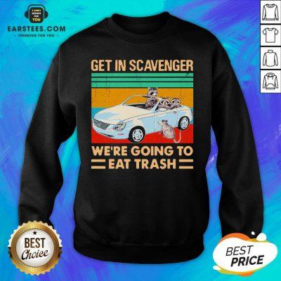 Get In Scavenger We're Going To Eat Trash Vintage Sweatshirt - Design By Earstees.com