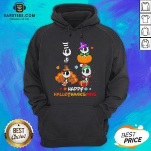 Good Jack Skellington Happy Hallothanksmas Hoodie - Design By Earstees.com