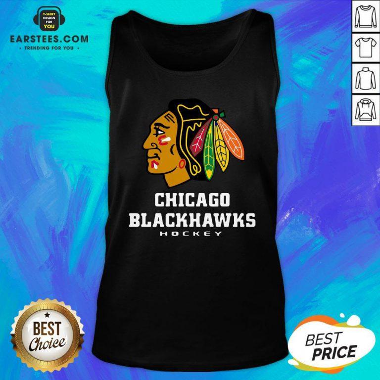 Good Logo NHL Chicago Blackhawks Hockey Tank Top - Design By Earstees.com