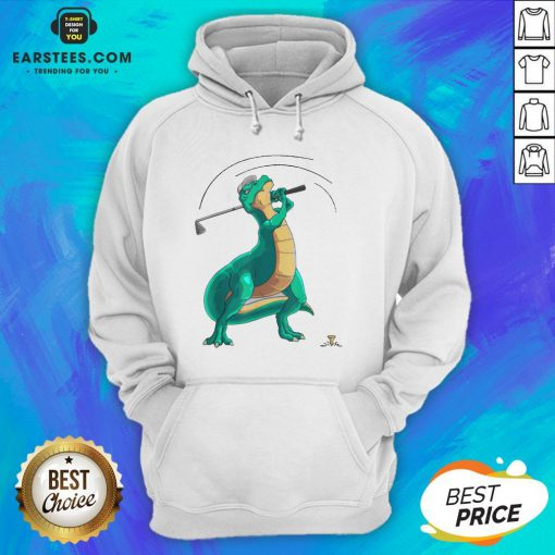 Good T-Rex Playing Golf Dino Ball Game Sports Hoodie - Design By Earstees.com