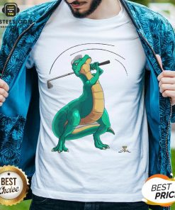 Good T-Rex Playing Golf Dino Ball Game Sports Shirt - Design By Earstees.com