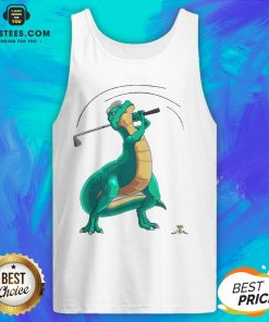 Good T-Rex Playing Golf Dino Ball Game Sports Tank Top - Design By Earstees.com