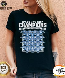 Good Tampa Bay Lightning 2020 Stanley Cup Champions Roster V-neck - Design By Earstees.com
