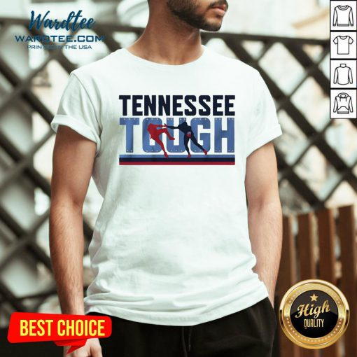 Good Tennessee Tough Nashville Football V-neck - Design By Earstees