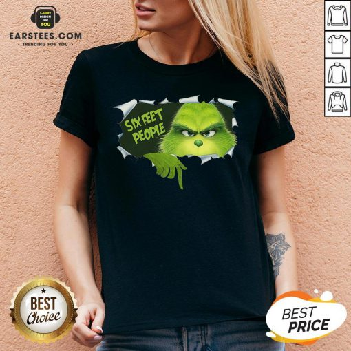 Good The Grinch Six Feet People V-neck - Design By Earstees.com