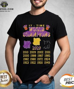 Good Undefeated Lakers 17 Time Champion Shirt - Design By Earstees.com