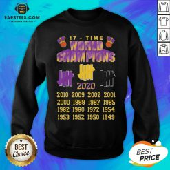 Good Undefeated Lakers 17 Time Champion Sweatshirt - Design By Earstees.com