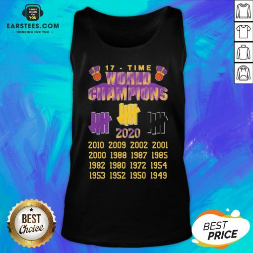 Good Undefeated Lakers 17 Time Champion Tank Top - Design By Earstees.com