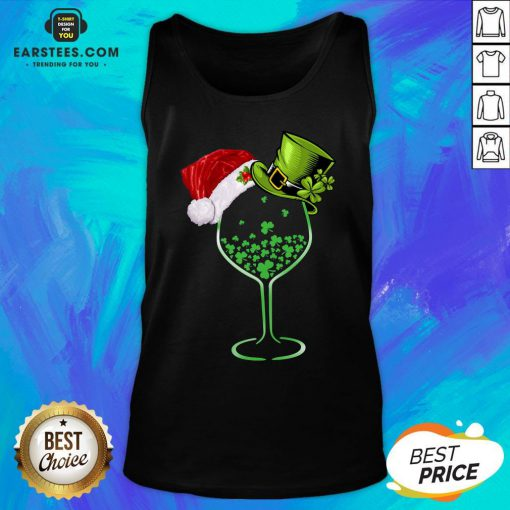 Good Wine St Patrick Hat Christmas Tank Top - Design By Earstees.com