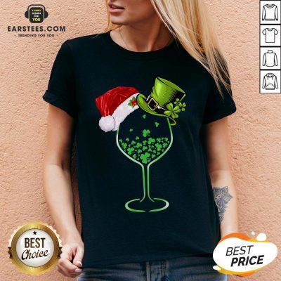Good Wine St Patrick Hat Christmas V-neck - Design By Earstees.com
