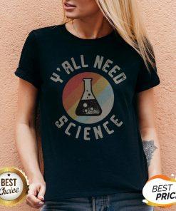 Good Y'all Need Science Vintage Retro V-neck