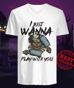 Halloween Joker I Just Wanna Play With You V-neck