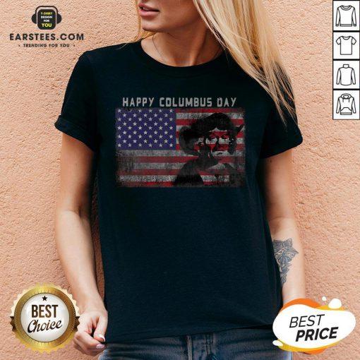 Happy Columbus Day – Italian Explorer – America – Discovery V-neck- Design By Earstees.com