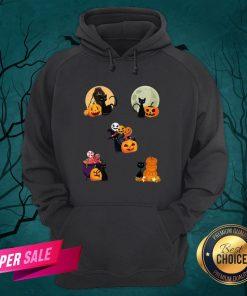 Happy Halloween Cat Pack Pumpkins Hoodie
