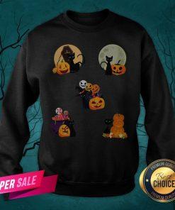 Happy Halloween Cat Pack Pumpkins Sweatshirt