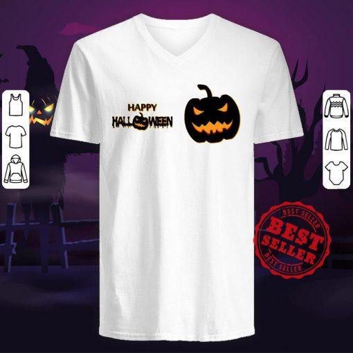 Happy Halloween Day 2020 Pumpkins V-neck