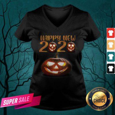Happy New Halloween Pumpkins 2020 V-neck