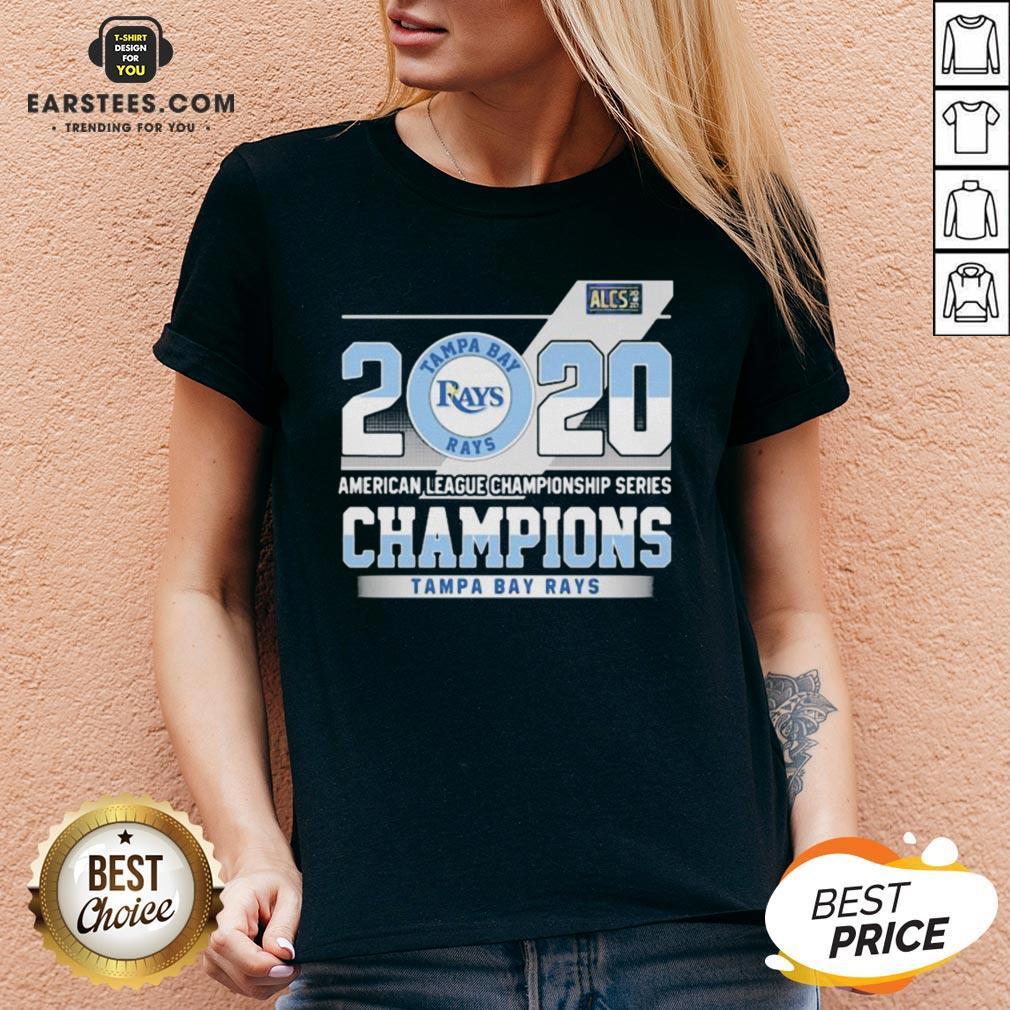 Hot 2020 American League Championship Series Champions Tampa Bay Rays V-neck - Design By Earstees.com