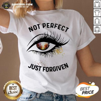 Hot Eyes Not Perfect Just Forgiven V-neck - Design By Earstees.com