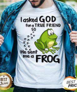 I Asked God For True Friend So He Sent Me A Frog Shirt