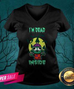 I'm Dead Inside Zombie Happy Halloween V-neck
