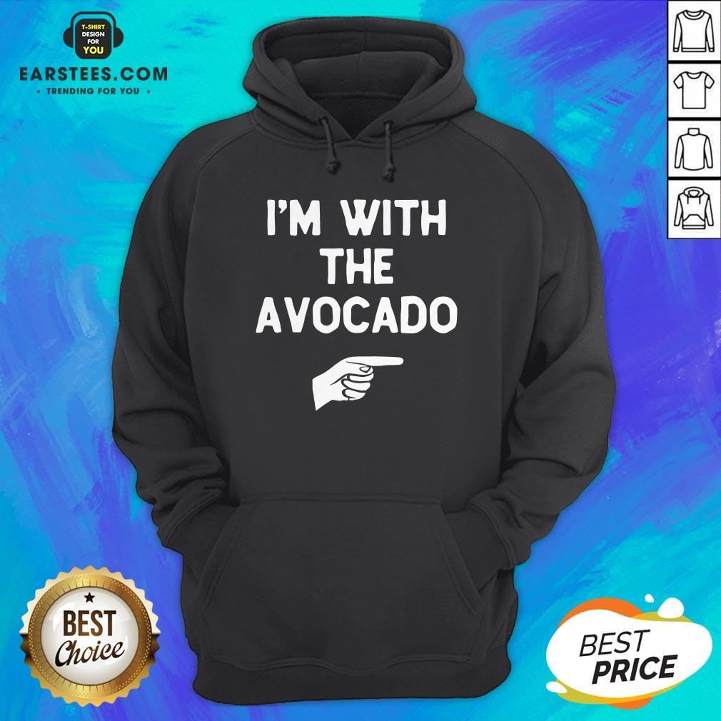 I'm With The Avocado Costume Halloween Matching Hoodie - Design By Earstees.com