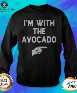 I'm With The Avocado Costume Halloween Matching Sweatshirt - Design By Earstees.com