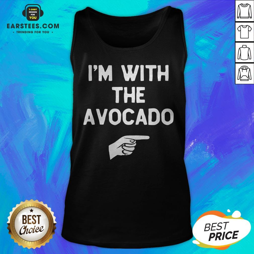 I'm With The Avocado Costume Halloween Matching Tank Top - Design By Earstees.com