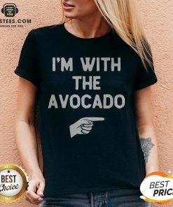 I'm With The Avocado Costume Halloween Matching V-neck - Design By Earstees.com