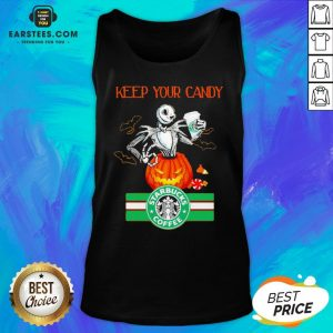 Jack Skellington Keep Your Candy I'll Have Starbuck Coffee Tank Top - Design By Earstees.com