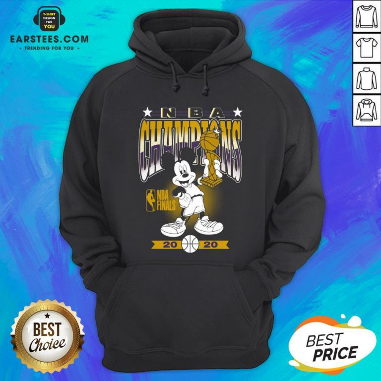 Lakers Mickey Mouse NBA Champions 2020 Hoodie - Design By Earstees.com