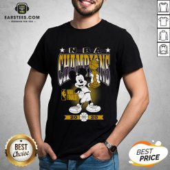 Lakers Mickey Mouse NBA Champions 2020 Shirt - Design By Earstees.com
