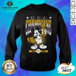 Lakers Mickey Mouse NBA Champions 2020 Sweatshirt - Design By Earstees.com