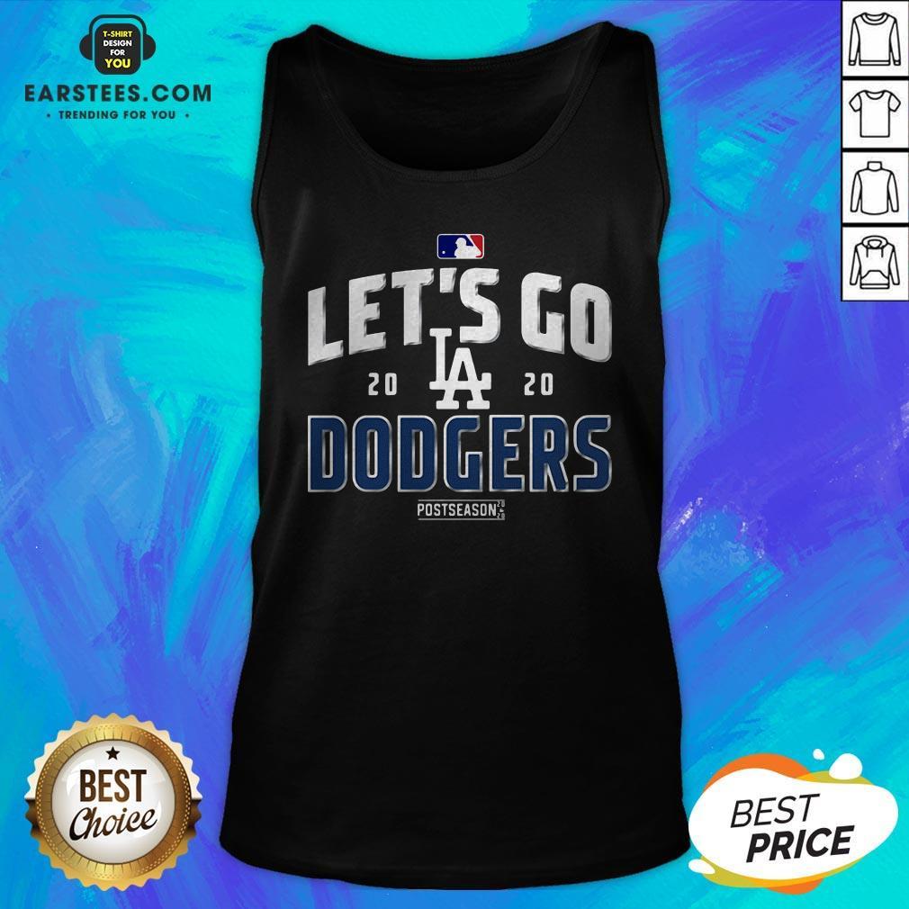 Let's Go Los Angeles Dodgers 2020 Postseason Tank Top - Design By Earstees.com