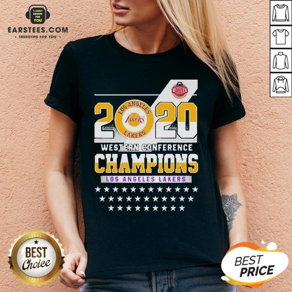 Los Angeles Lakers Western Conference Champions 2020 V-neck - Design By Earstees.com