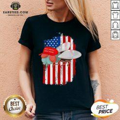 Mike Pence Fly MAGA Trump 2020 Republican Democrat V-neck - Design By Earstees.com