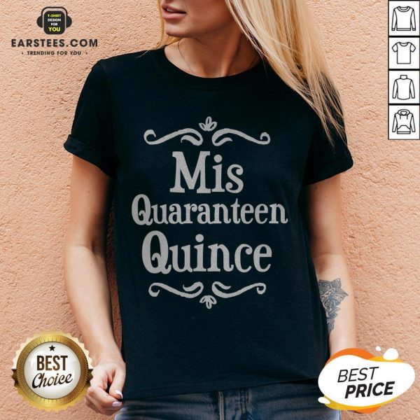 Mis Quince 15 Quaranteen Birthday Teenager V-neck - Design By Earstees.com