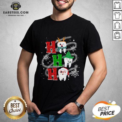 Nice Dental Ho Ho Ho Christmas Gift Shirt - Design By Earstees.com