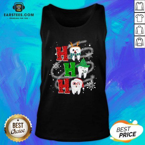 Nice Dental Ho Ho Ho Christmas Gift Tank Top - Design By Earstees.com