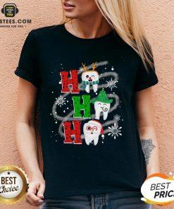 Nice Dental Ho Ho Ho Christmas Gift V-neck - Design By Earstees.com