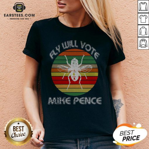 Nice Fly Will Vote Mike Pence Vintage V-neck - Design By Earstees.com