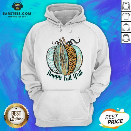 Nice Happy Fall Leopard Pumpkin Hoodie - Design By Earstees.com