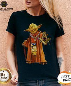 Nice Master Yoda Freemason Brother V-neck - Design By Earstees.com
