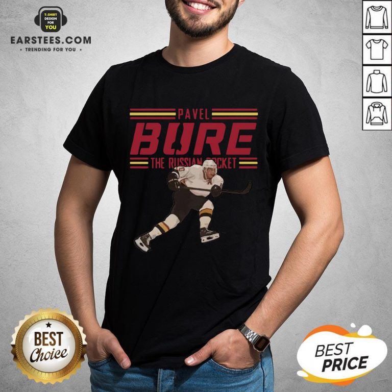 Nice Pavel Bure The Russian Rocket Play T-Shirt - Design By Earstees.com