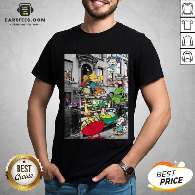 Nickelodeon Classic Nicktoons Hanging On Stoop 2020 T-Shirt - Design By Earstees.com