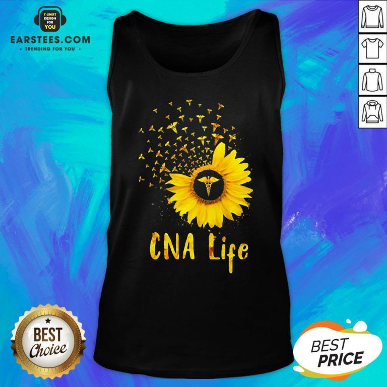 Official CNA Life Sunflower Tank Top - Design By Earstees.com