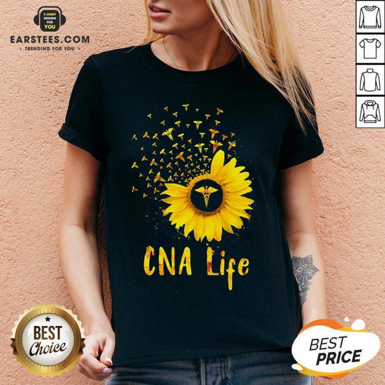 Official CNA Life Sunflower V-neck - Design By Earstees.com