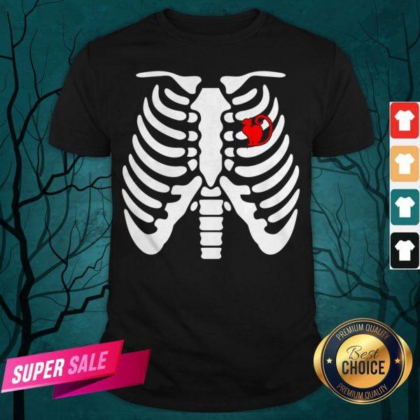 Official Halloween Day Skeleton Cat Shirt